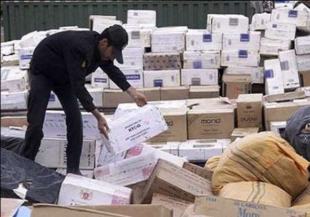 کالای قاچاق 200میلیونی در بهارستان توقیف شد