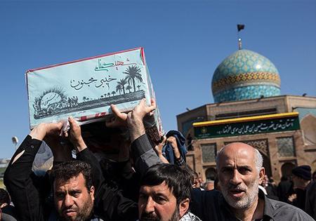 پیکر 4 شهید فاطمی در قزوین تشییع شد