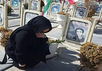 عکس/ بهنوش بختیاری در مزار شهدا