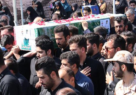 مراسم تشییع پیکر جانباز شهید علیرضا خراسانی برگزار شد /تصاویر