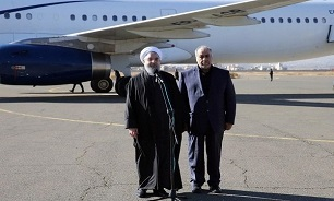 Pres. Rouhani in Kermanshah to assess quake damage