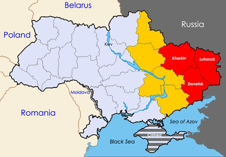 The eastern Ukrainian crisis and the efforts of international parties to compromise between Kiev and Moscow