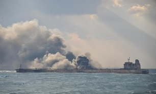 Rescue teams pull back after explosion aboard Iranian tanker