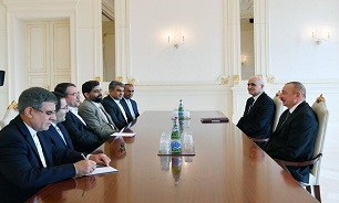 Iran's industry minister, Azerbaijani president discuss economic ties