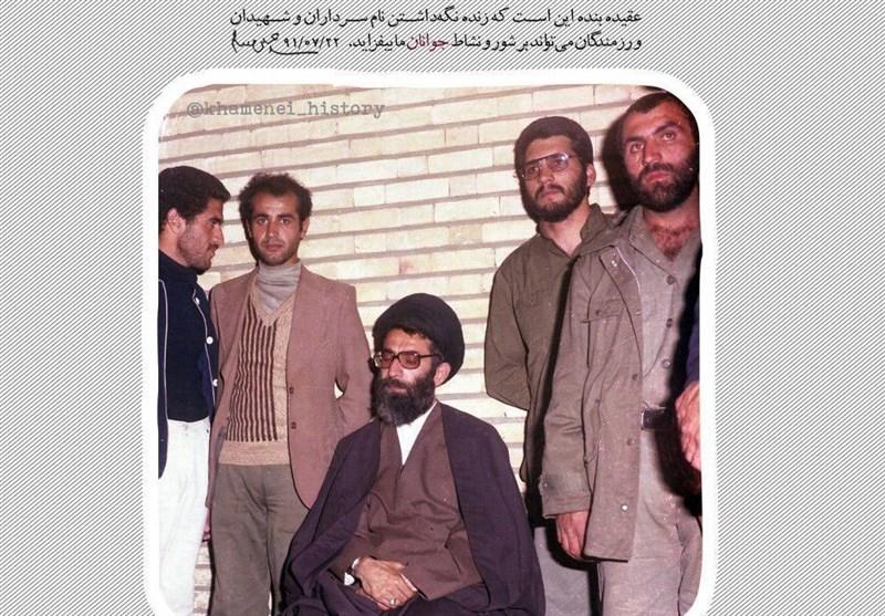 عکس قدیمی از شهید همدانی با رهبر معظم انقلاب