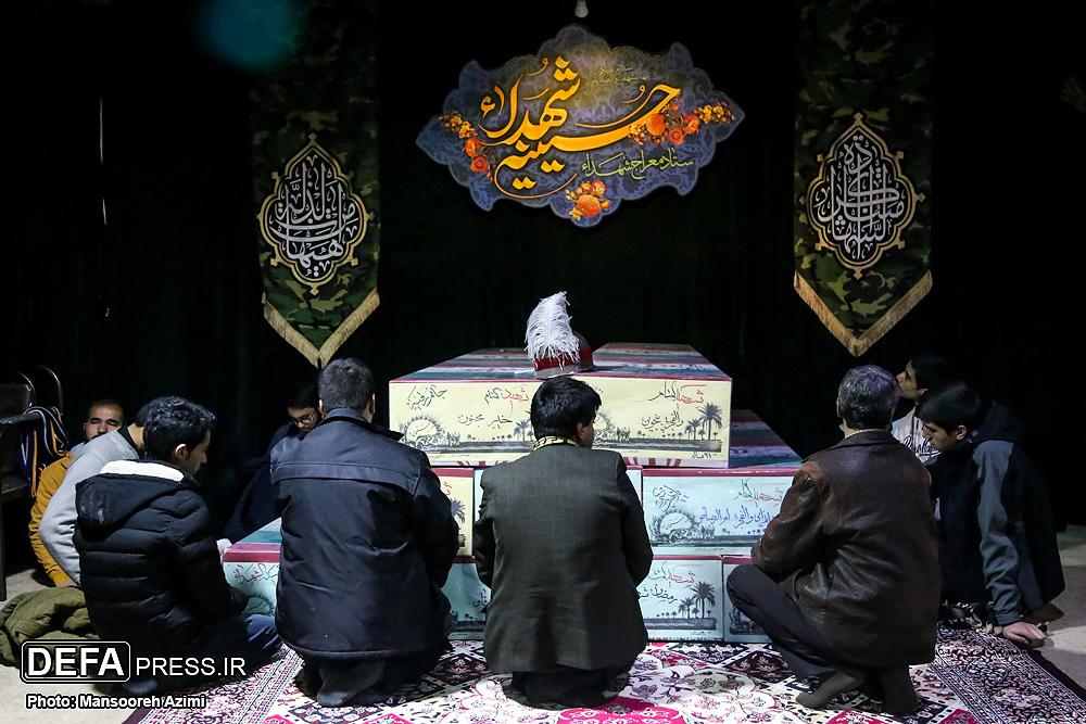 تصاویر/ مراسم وداع با پیکر شهید مدافع حرم سید احسان میرسیار