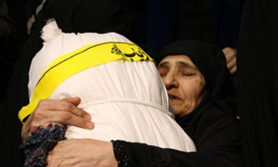 مراسم وداع با پیکرهای مطهر ۴ شهید تازه تفحص شده