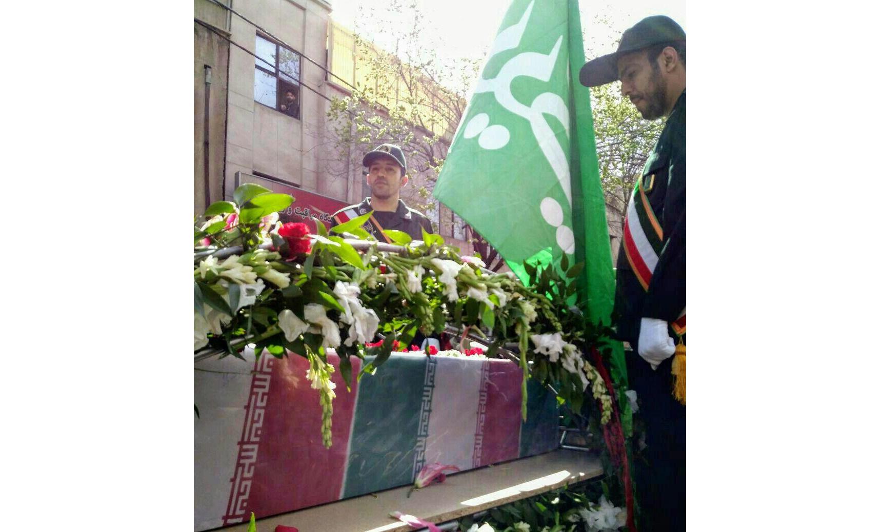 تشییع پیکر 2 شهید گمنام در بوستان رضوان