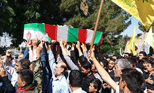 پیکر مطهر مدافع حرم شهید «سفیر حسین محمدی» تشییع شد