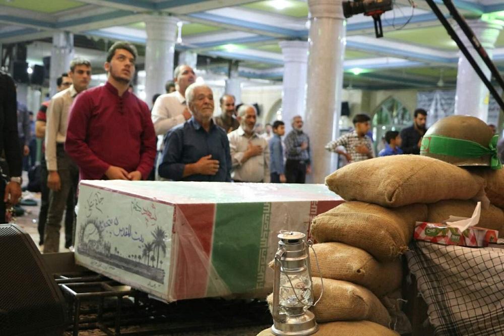 دعای ندبه شهر کرمان با حضور شهید گمنام برگزار شد