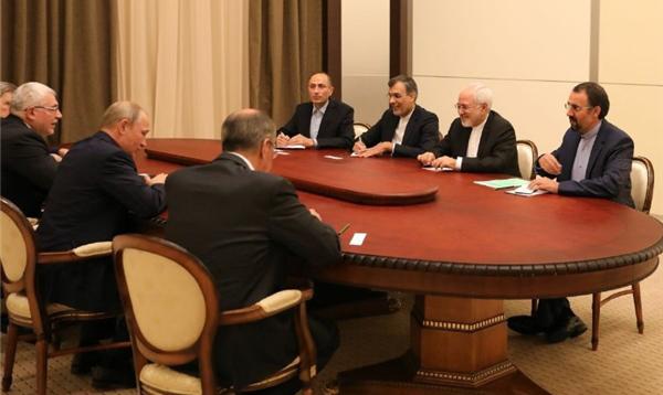 ظریف با پوتین دیدار کرد/ بحران سوریه و وضعیت توافق هستهای، محور گفتگوها