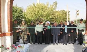 افتتاح یادمان شهید گمنام در ستاد فرماندهی انتظامی استان زنجان