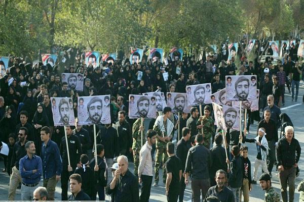 پیکر شهید حججی به زادگاهش رسید/ پوشش مراسم تشییع شهید با حضور  400 خبرنگار