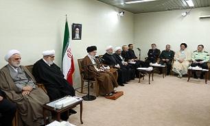 رهبر معظم انقلاب اسلامی در جلسهای با حضور رؤسای قوای سهگانه و تنی چند از مسئولان: