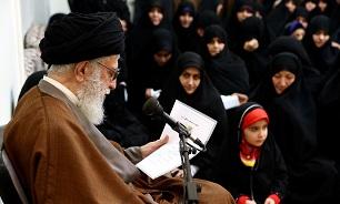 همسران شهدای مدافع حرم پایان عمر داعش رابه رهبرانقلاب تبریک گفتند