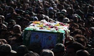 پیکر پاک و مطهر شهید «هادی کاردیده» تشییع و تدفین شد