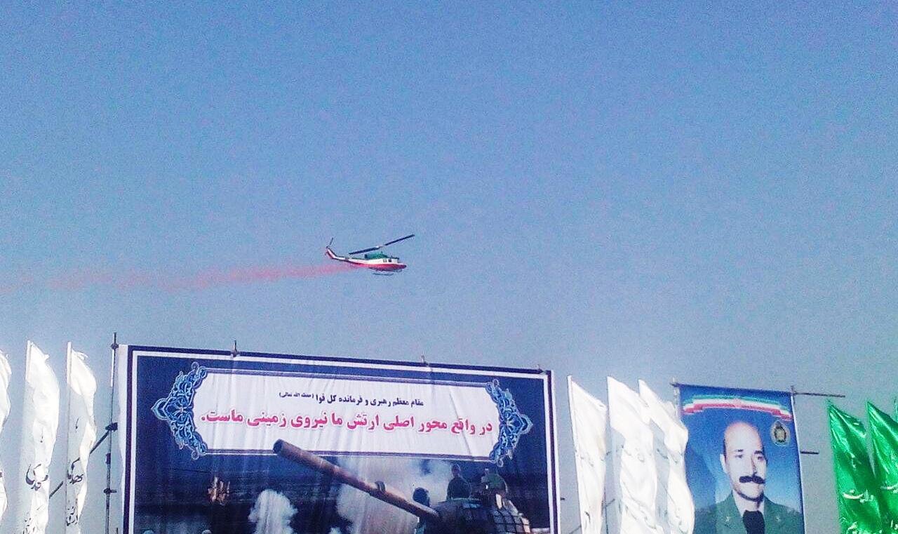 پرواز 57 بالگرد بازآماد شده بر فراز حرم مطهر امام خمینی (ره)