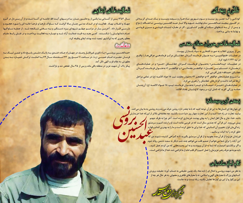 دادهنما/ گذری بر زندگی شهید «عبدالحسین برونسی»