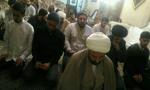 دیدار طلاب حوزه علمیه امام رضا (ع) با خانواده شهید حدادیان