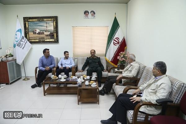 نیروگاه اتمی بوشهر با اهداء تجهیزات مهندسی نقش بزرگی در پشتیبانی جنگ را ایفاء نمود