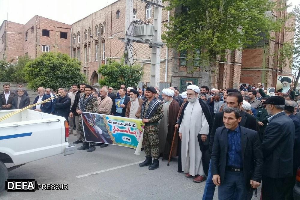 راهپیمایی مردم جویبار در حمایت از سپاه پاسداران + تصاویر
