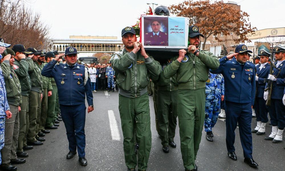 مراسم تشییع پیکر شهید خلبان شهید «محمدرضا رحمانی» برگزار شد