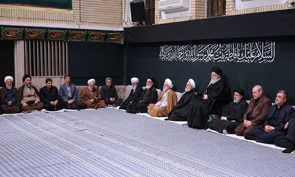 جای خالی حاج قاسم سلیمانی در اولین شب عزاداری حسینیه امام خمینی (ره)