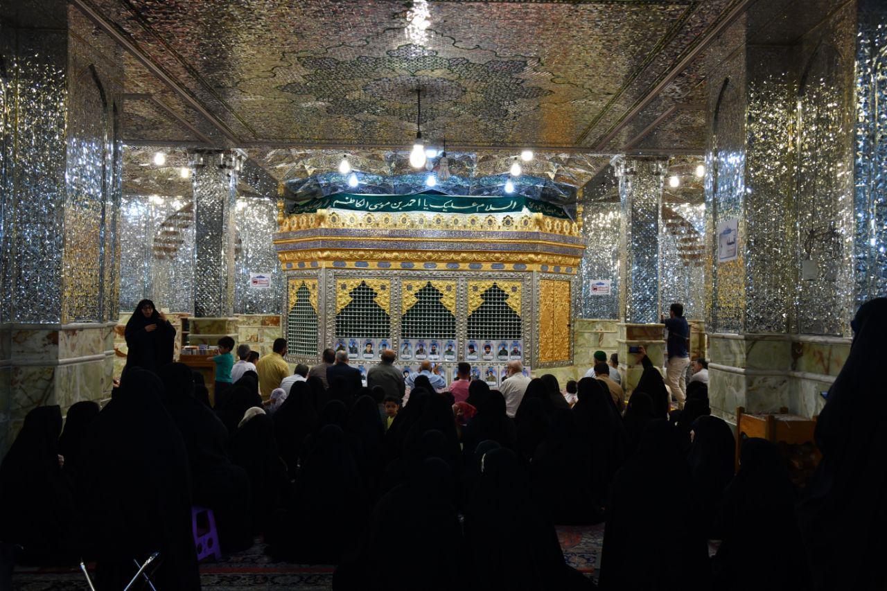 زیارت خانواده شهدای مشهد از حرم شاهچراغ