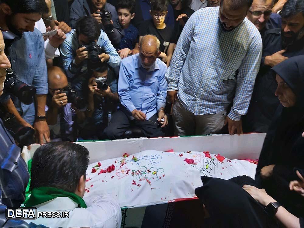 وداع با شهید مدافع وطن «سید محسن نقیبی» در معراجالشهداء + فیلم و تصویر
