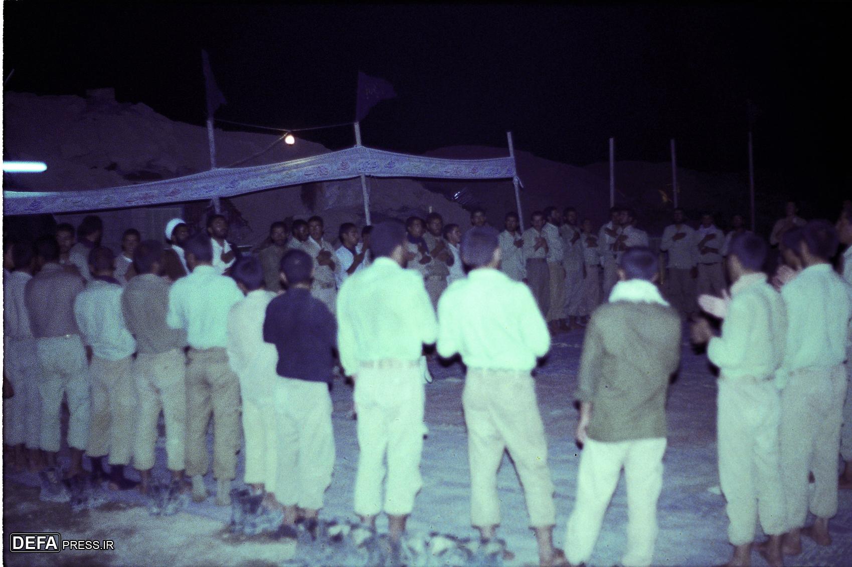 مراسم عزاداری رزمندگان در قاب تصویر