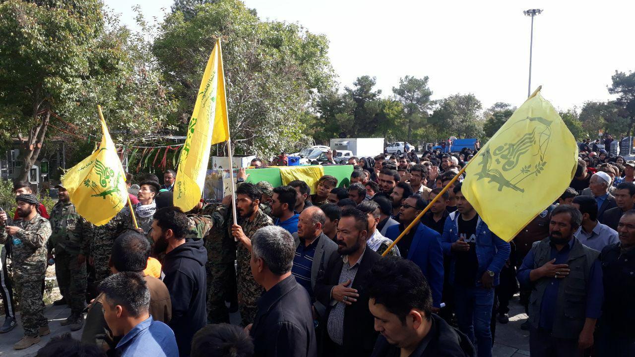 تشییع پیکر دو شهید فاطمیون در تهران