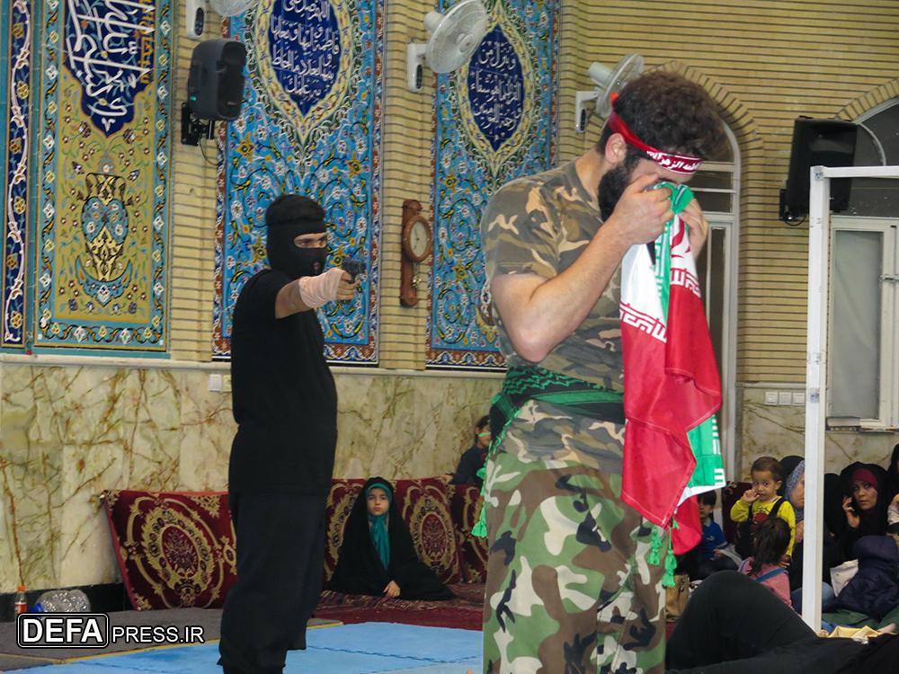 نمایش لحظه شهادت مدافع امنیت «مرتضی ابراهیمی» اجرا شد + عکس