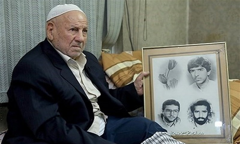 پدر شهیدان عرب سرخی دار فانی را وداع گفت