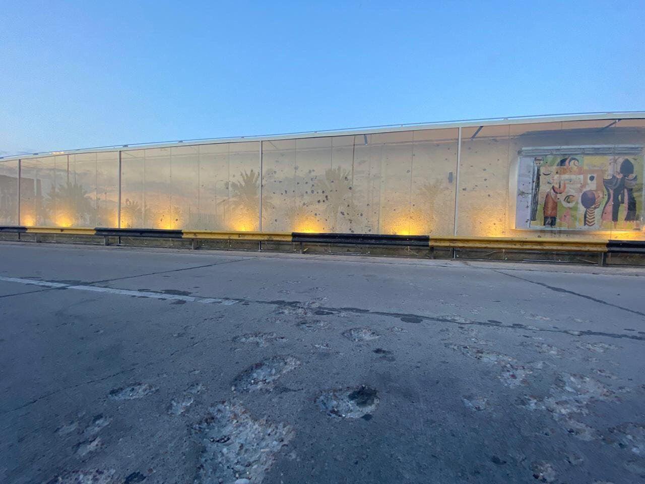 دیوار فرودگاه بغداد، تابلوی جنایت آمریکا علیه رهبران مقاومت+ تصاویر