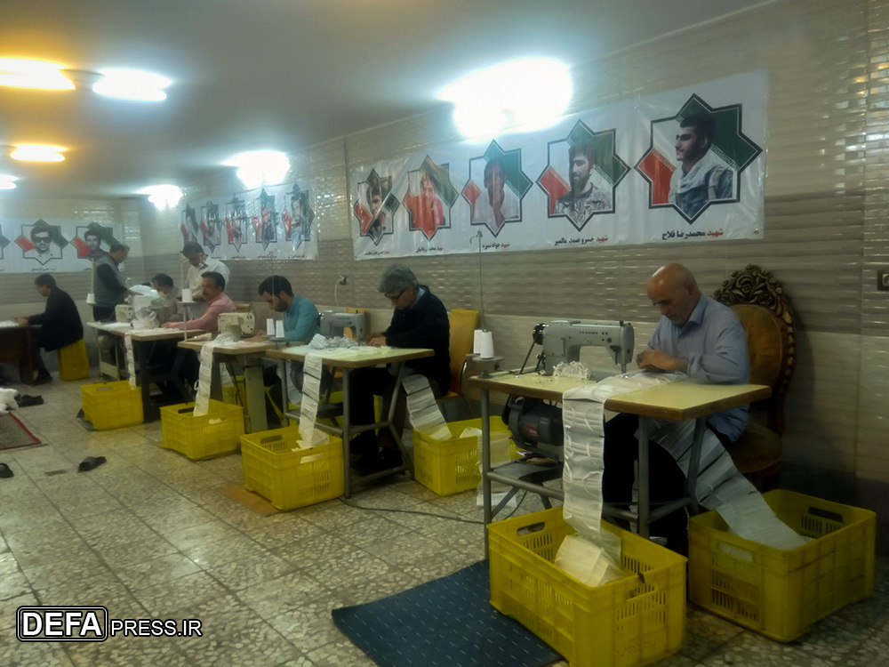 رزمندگان خطشکن گردان «انصار» در میدان مبارزه با «کرونا» + تصاویر