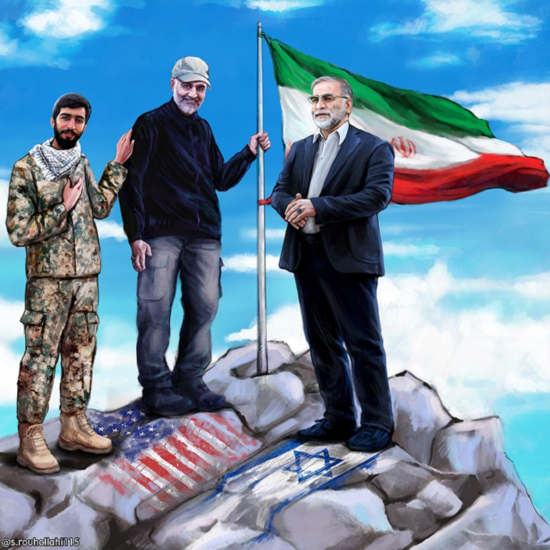 پوسترهای گرافیکی از سپهبد شهید حاج قاسم سلیمانی  عکس