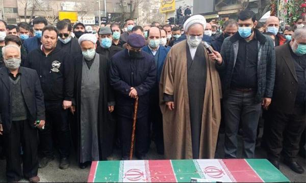 پیکر مطهر شهید «ناصر صدقی» در شهرری تشییع شد