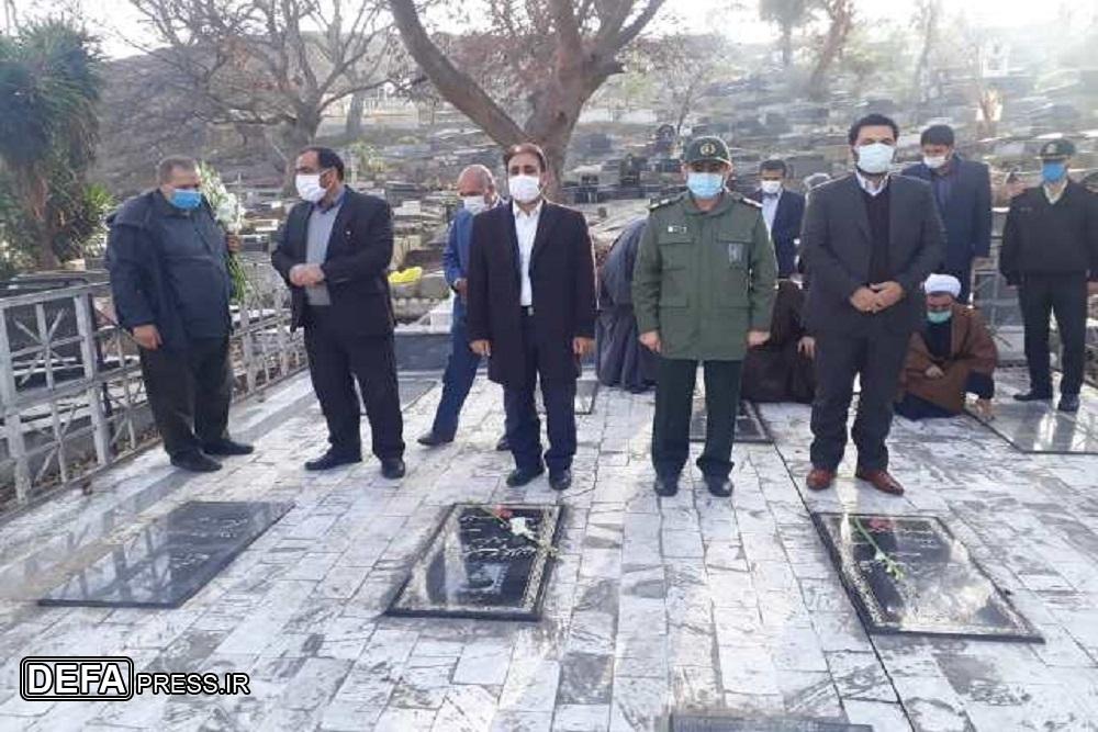 1228562 277 - عطرافشانی گلزار شهدای نکا به مناسبت دهه مبارک فجر