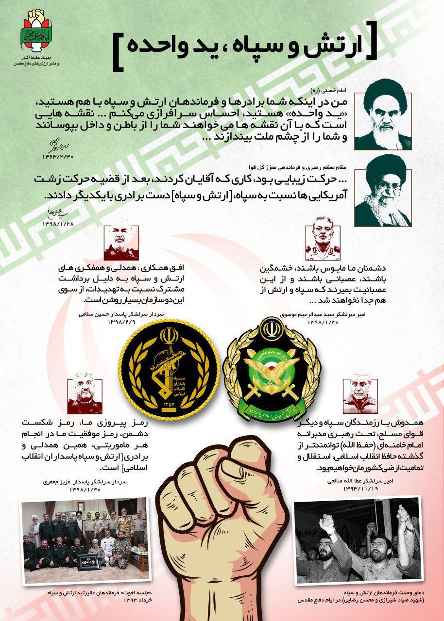 دادهنما/ ارتش و سپاه، ید واحده