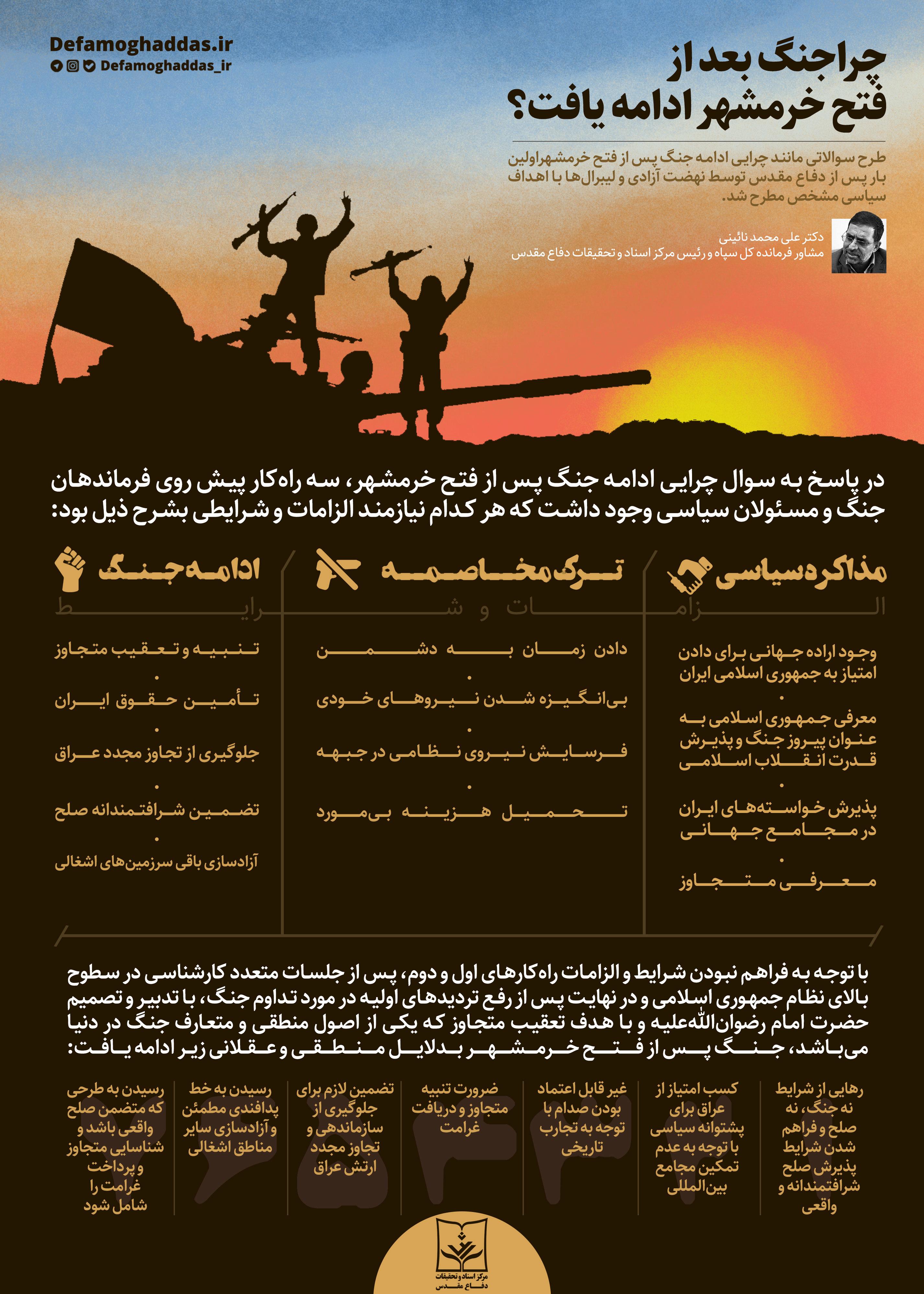 دادهنما/ چرا پس از آزادسازی خرمشهر جنگ ادامه پیدا کرد؟