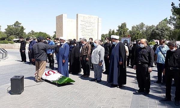 پیکر شهید احمدی در قطعه ۵۳ بهشت زهرا آرام گرفت
