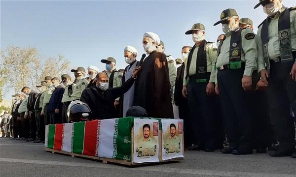 تشییع شهید «حامد ضابط» در ستاد فرماندهی انتظامی تهران + عکس