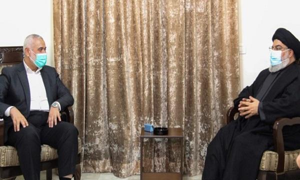 دیدار هنیه با نصرالله برای مقابله با طرحهای صهیونیسم بود