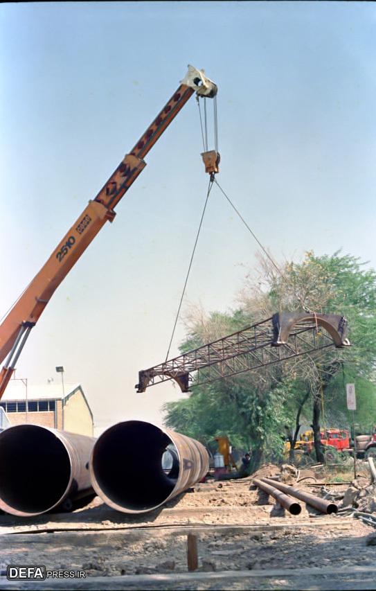 احداث پل «بعثت» بر روی اروند رود به روایت تصاویر