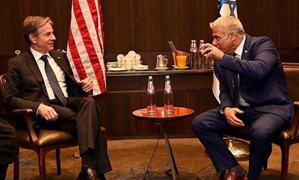 وزرای خارجه رژیم صهیونیستی و آمریکا درباره ایران و فلسطین گفتوگو کردند