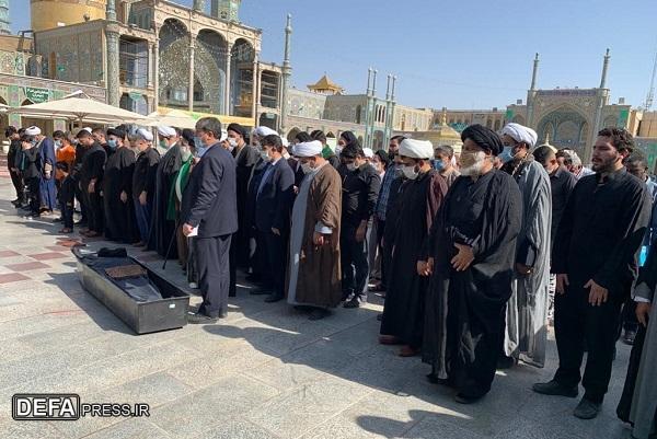 پیکر روضه خوان مقتلالشهدای فاطمیه (س) در قم خاکسپاری شد+ تصاویر
