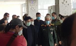 نمایشگاه در لباس سربازی با حضور حجتالاسلام رئیسی افتتاح شد