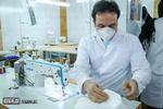 کارگاه تولید ماسک توسط خانواده کارکنان پایگاه هوانیروز آبیک قزوین